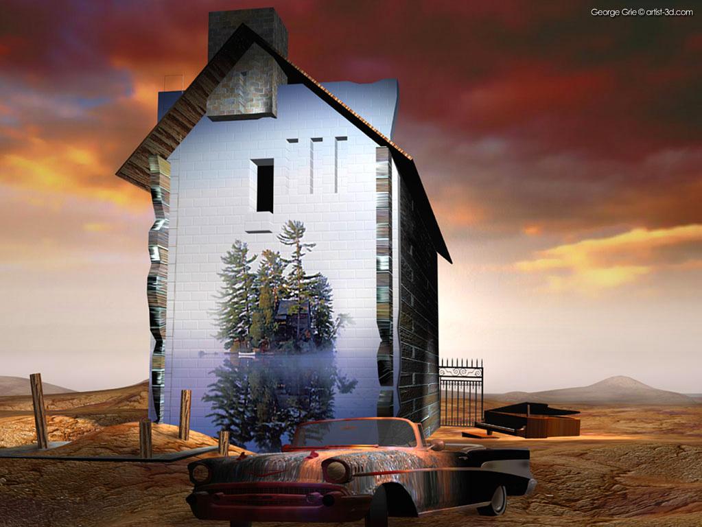 Modern Surrealism Fantasy Art 3D Pictures: George Grie 3d ... Modern Surrealism Wallpaper