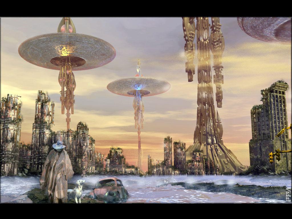 Préférence Fantasy art design wallpapers: modern science fiction artwork 3d  RQ15