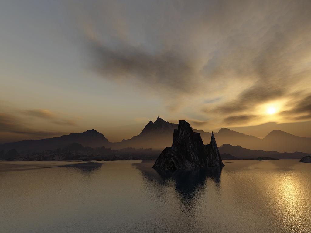 3d Terragen Fantasy Art Gallery Landscape Wallpaper Desktop