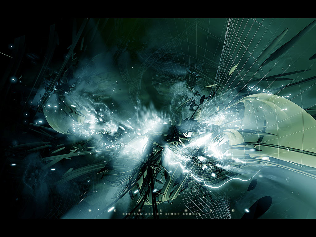 Fantasy art design wallpapers modern science fiction 3d art abstract