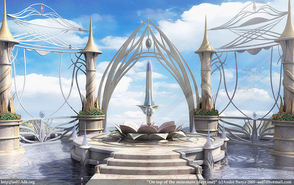 کاخی در آسمان --- طرحی از بهشت
