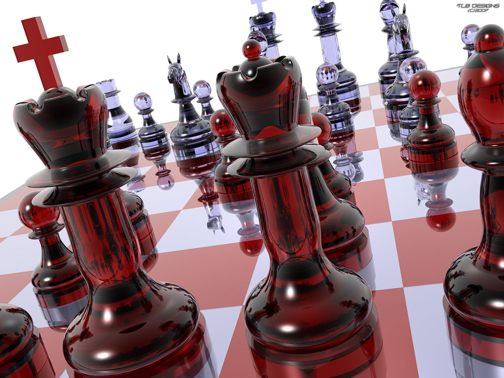 chess wallpaper 3d 01 Salvapantallas de Ajedrez