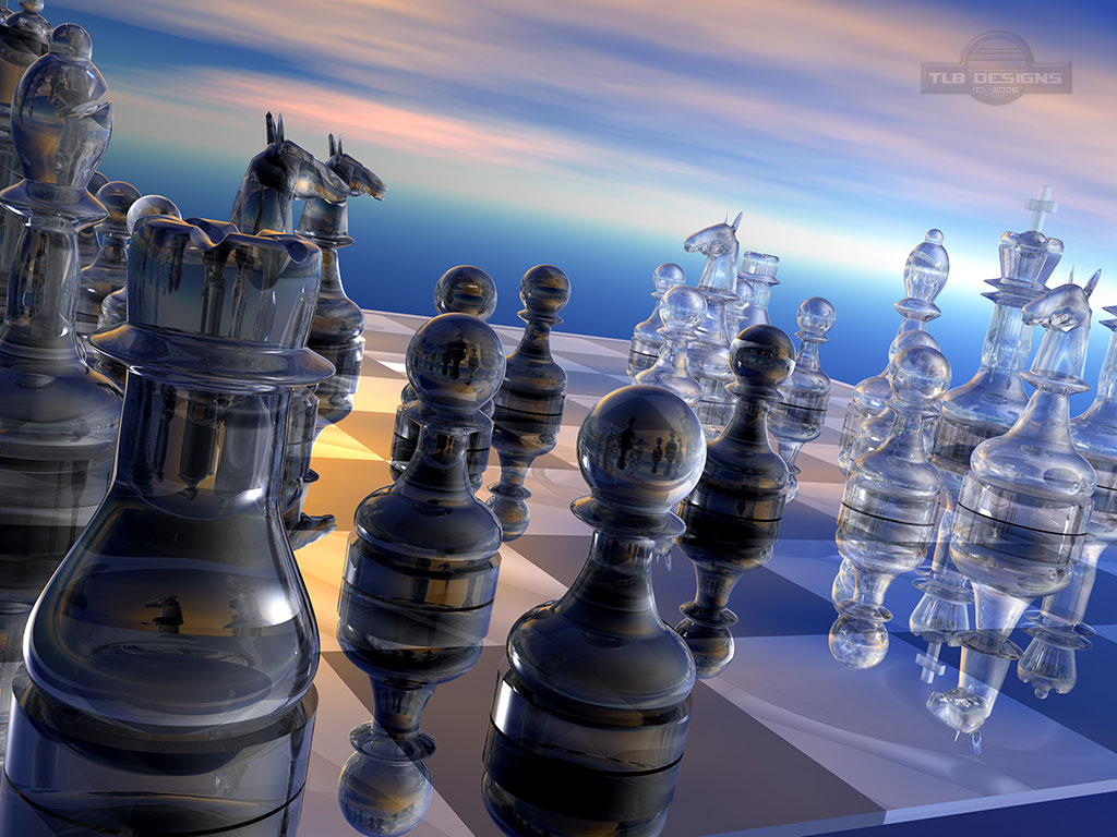 Wallpaper 3D Art - Chess Wallpaper 3d