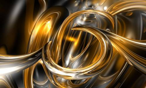 Gold rings wallpaper by jb 007 3d digital art abstract for Gold 3d wallpaper