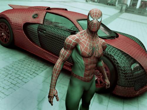 Spidey_2 spider man 3D Digital Art Science Fiction picture