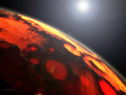 3d planet wallpaper. Wallpaper image: Red Planet, Science Fiction, 3D Digital Art,