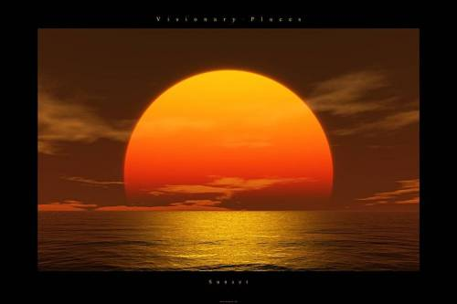 clipart sunset. Visionary places - sunset,