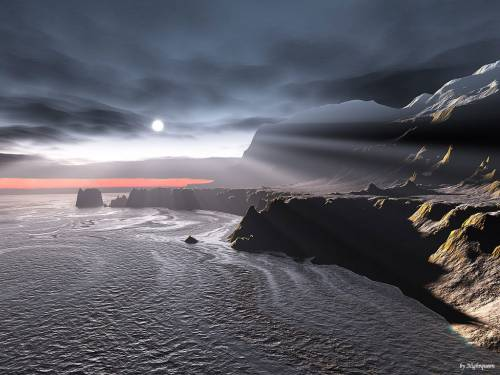 3d landscape wallpaper. Wallpaper image: Sunset