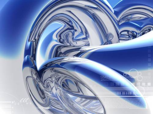 Silver curve by zocker 3d digital art abstract for Silver 3d wallpaper