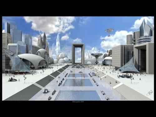 image: Sci-fi downtown, Science Fiction, 3D Digital Art, Landscape ...