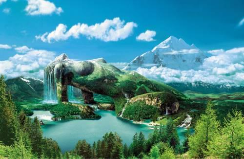 wallpaper mountain. Wallpaper image: Magic