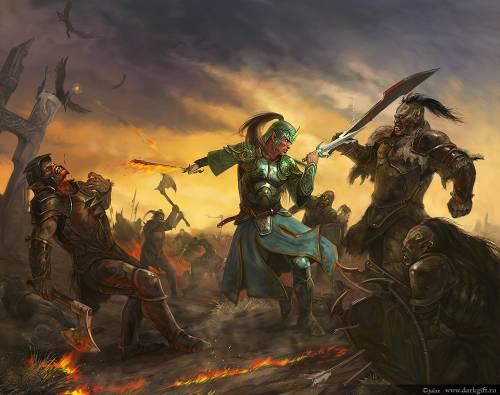 image: Fight, Fantasy Art, 2D Digital Art, Magic warriors fantasy art ...
