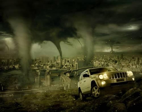Photoshop Tornado Mercedes Ad By Sergio Barros 2d Digital Art Surreal Art