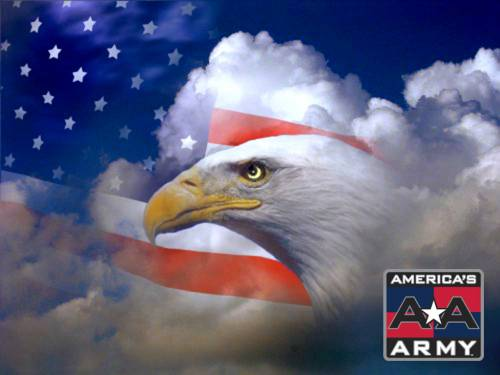 american flag background with eagle. American Eagle and Flag