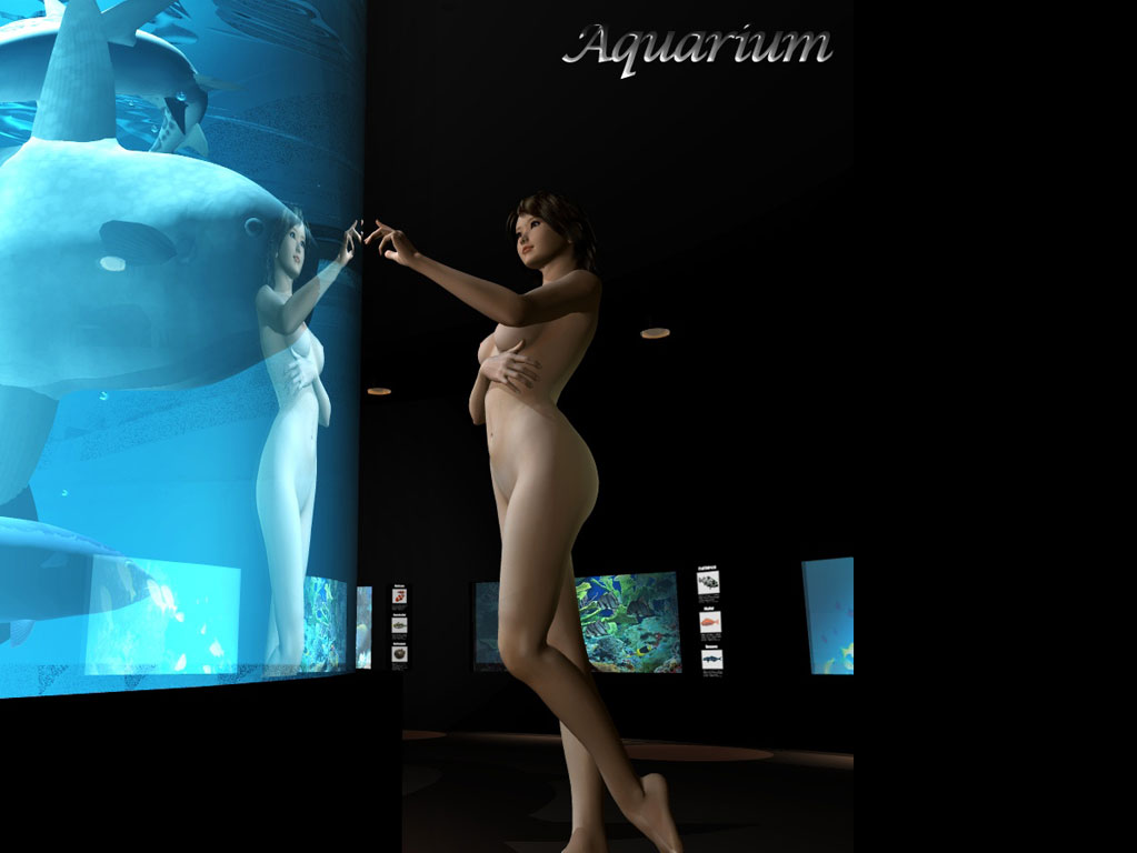 Free computer desktop wallpaper:Aquarium, 3D Digital Art, Mixed Style,