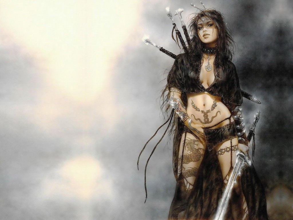 Sexy girl x fantasy art