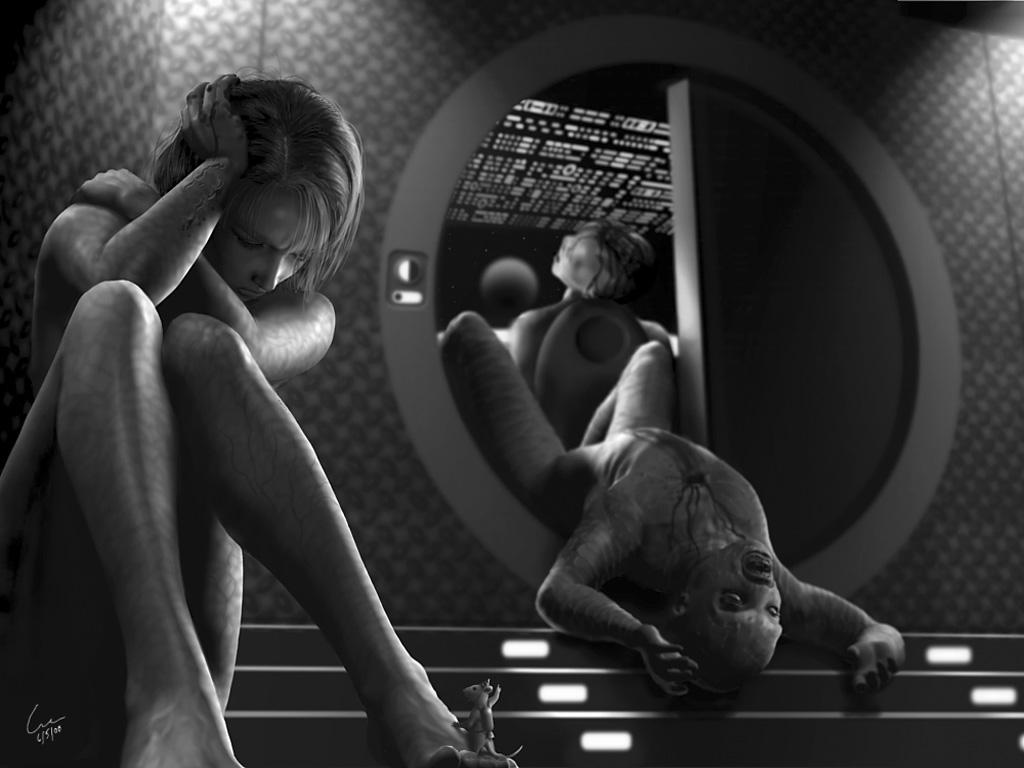 Free computer desktop wallpaper:Unspecified digital sci-fi art image,