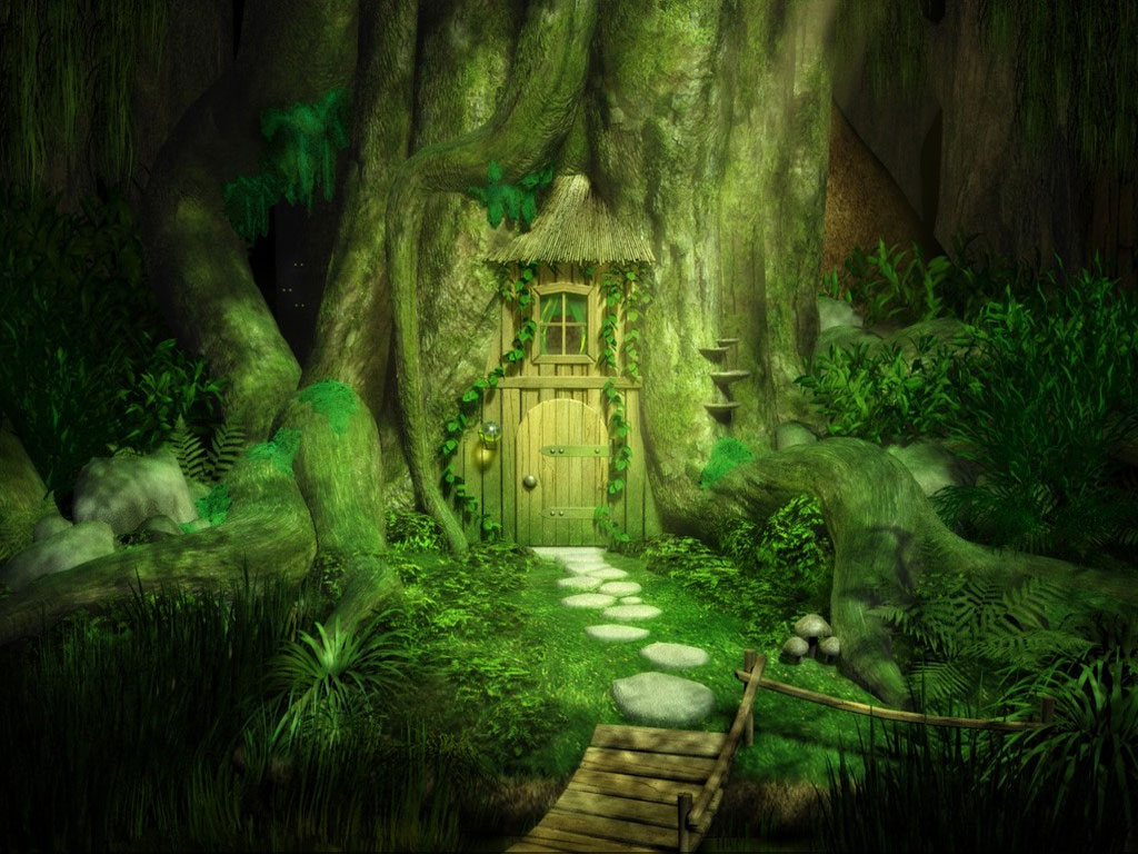 Wallpaper image: Fantasy door Nature 3D Digital Art Magic forest house door & Fantasy door by Empalu 3D Digital Art Nature Pezcame.Com