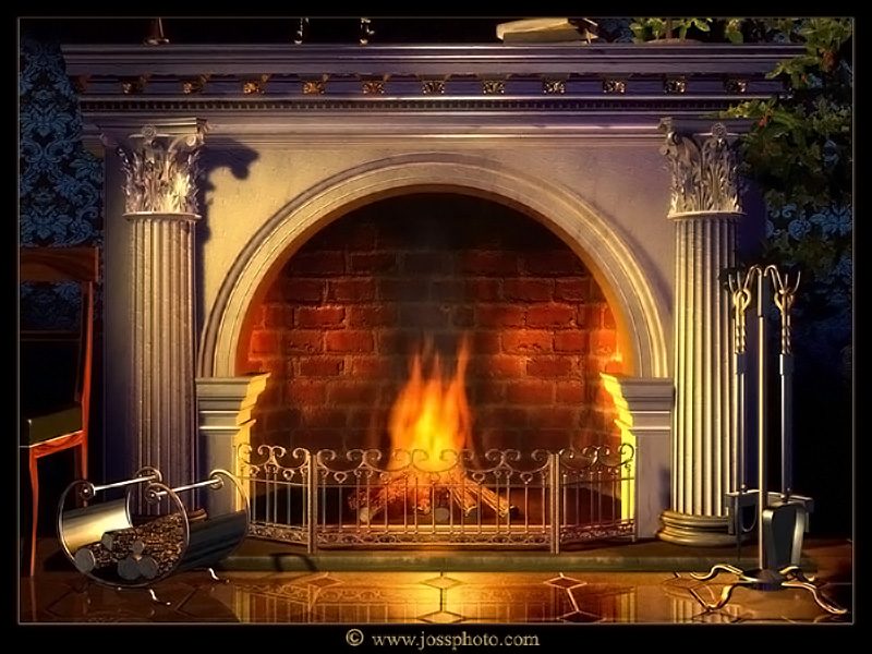 Free Fireplace Wallpaper: Fireplace, 800 X 600pix Wallpaper Mixed Style, Mixed Media