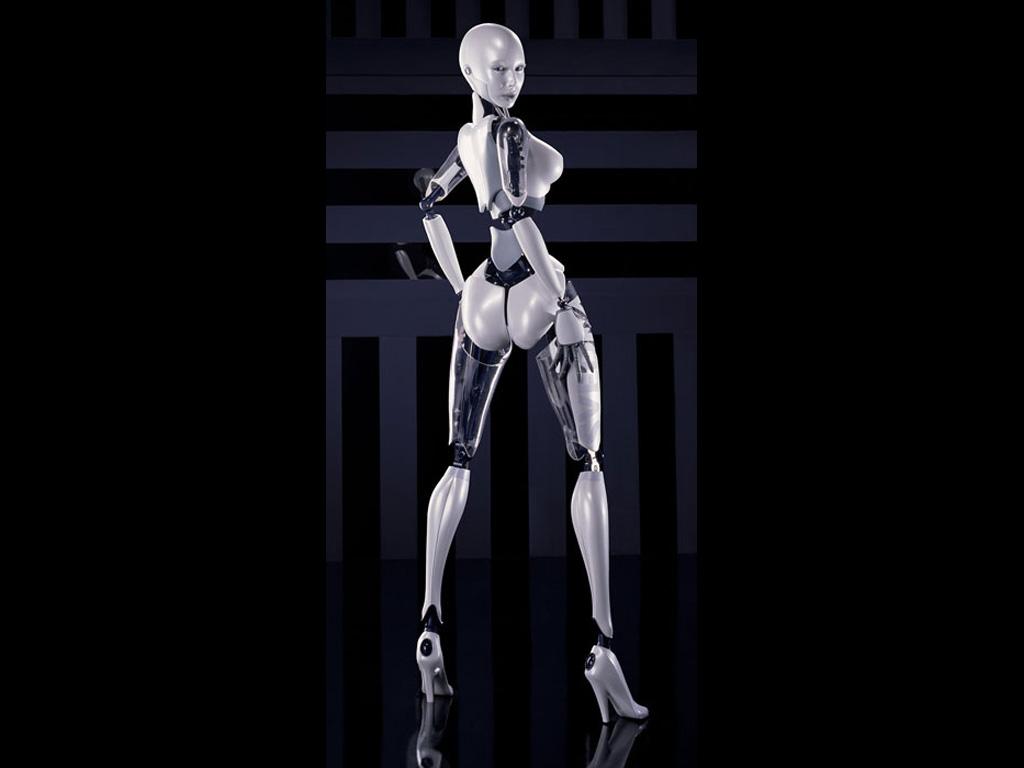 Порно девушка робот 84