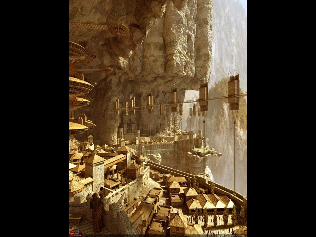 Rossul City, 1024 x 768pix wallpaper Fantasy Art, 3D Digital Art