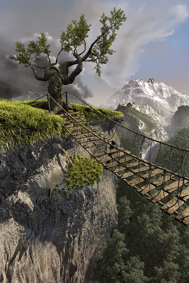 Freies Projekt Fantasy Landschaft 633 X 950pix Wallpaper Nature 3d
