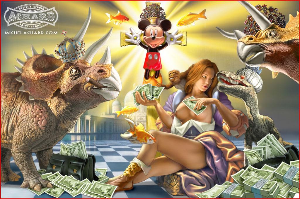 The Magical World Of Disney 1024 X 682pix Wallpaper Mixed Style 2d Digital Art