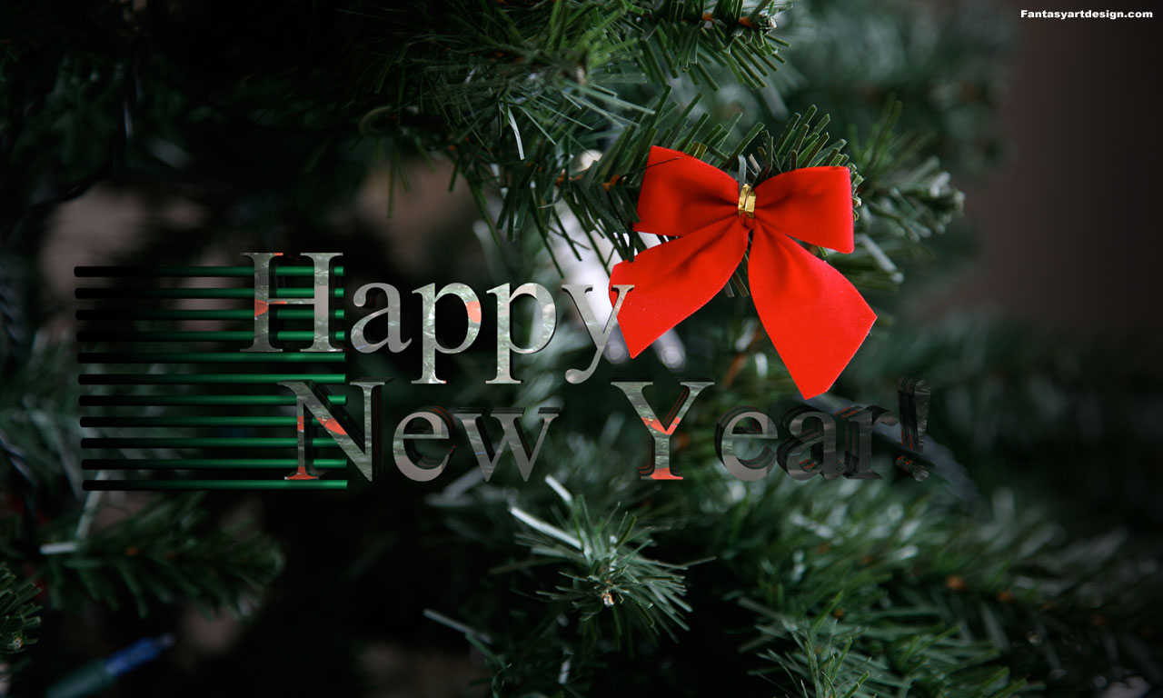 Happy New Year Greeting Desktop Background 1280 X 768pix Wallpaper