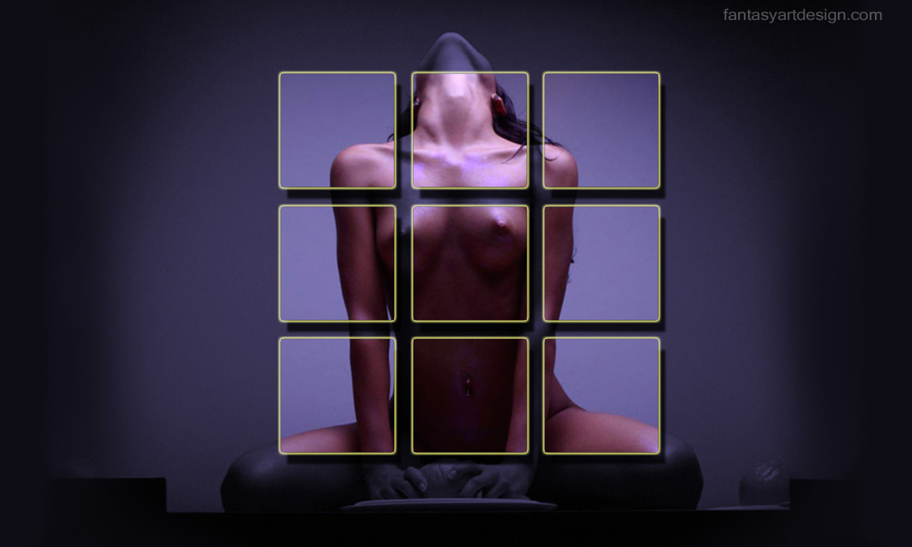 Free computer desktop wallpaper:Posing woman model design,