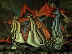 Wallpaper image: Surreal dynamic painting v1, 2D Digital Art