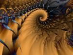 Wallpaper image: blue-gold wallpaper, 2D Digital Art