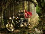 Wallpaper image: Little Red Riding Hood, Photo Manipulation