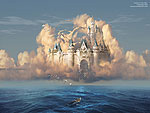 Wallpaper image: Castle in the Sky or Clouds of Shattered Dreams, Photo Manipulation