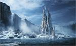 Wallpaper image: Gothic fantasy or Expiatory temple, 2D Digital Art