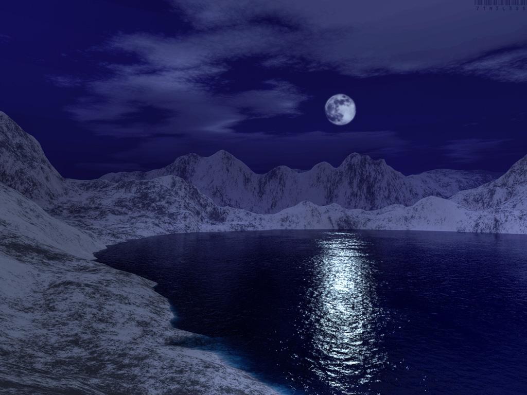 blue moon landscapesuxx, 3d digital art, nature